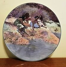 Royal Doulton Maori Girls Collectors Plate D6305 England New Zealand