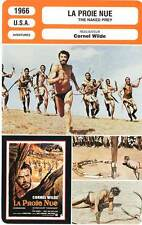 FICHE CINEMA : LA PROIE NUE - Wilde,Van Den Bergh 1966 The Naked Prey