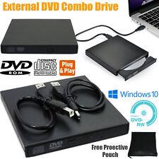 Esterno USB 2.0 DVD ROM Drive Lettore CD RW Scrittore Bruciatore per netbook/PC/Laptop