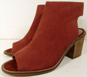 Chinese Laundry Womens Calvin Peep Toe Bootie Shoes, Brandy, US 8