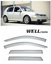 WellVisors Side Window Visors Deflectors For 99-05 Volkswagen Golf MK4 Hatchback