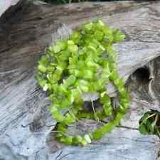 1 Fil de +/- 90 cm Perles Oeil de Chat Chips (Olive)