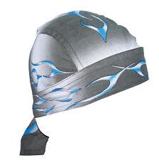 New ZANHeadgear® Blue Tank Flame 100% Cotton FLYDANNA® Bandanna Doo Rag