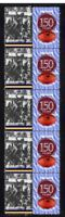 CLAREMONT FC WAFL 150th of FOOTBALL STRIP OF 10 VIGNETTE STAMPS