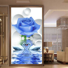 DIY 5D Diamond Painting Blue Rose Flower Embroidery Cross Stitch Home Decor
