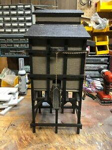 G SCALE COALING TOWER  MODEL B --DARK TIMBERS , TAN BINS