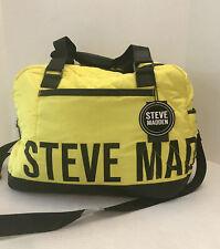 Steve Madden Bhoney Oversized Satchel Weekender Citron Bright Yellow