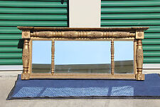 Federal Classical Empire Gold Gilt Buffet Overmantle Mirror ~Ca.1830