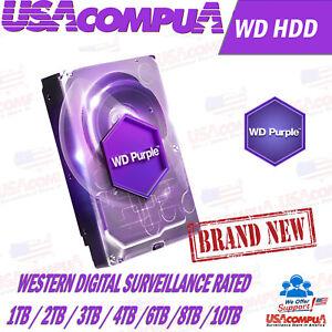 """Western Digital Purple 1TB / 2TB / 3TB / 4TB / 6TB SATA 6Gb/s 3.5""""Hard Drive"""
