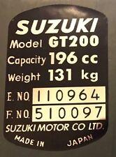 SUZUKI GT200 X5 HEADSTOCK FRAME RESTORATION DECAL