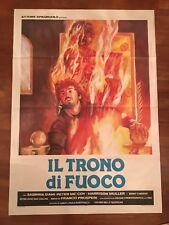 MANIFESTO 2F ,IL TRONO DI FUOCO Franco Prosperi.1983, Sabrina Siani:  J