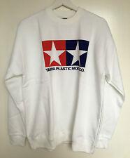 Tamiya 66858 Offiziell Tamiya Logo weiß Sweatshirt groß (L) NEU