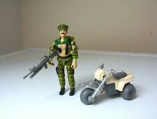 vintage Action Force/G.I.JOE LEATHERNECK figure & ATV Mini-vehicle.