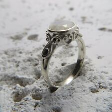 Size 8 (EU Size 57) Size 8 Blue faceted MOONSTONE Ring, STERLING SILVER #0328