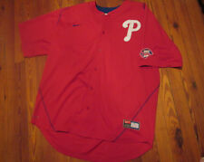 Philadelphia Phillies Jimmy Rollins #11 Nike Fit Red MLB Jersey Size XL