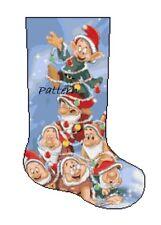 Seven Dwarfs Christmas Stocking Cross Stitch Kit.