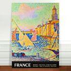 "Stunning France Vintage Travel Poster Art ~ CANVAS PRINT 24x18"" ~ Paul signac"