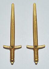 25430 Espada mandoble dorado 2u playmobil,sword,medieval,vikingo,viking