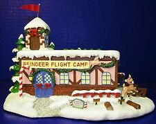 Hawthorne Rudolph's Christmas Town Village w Coa Coach Comet's Flight Camp