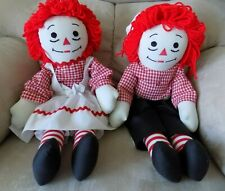 """Collectible Set of Raggedy Ann & Andy 19"""" Character Dolls"""