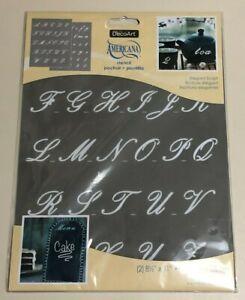 "DecoArt Americana 2 - 8 1/2""X11"" Elegant Script Laser Cut Stencil"