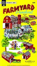 Vintage Reprint - 1959 - Farmyard Punch-Out Book - Reproduction