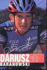 DARIUSZ BARANOWSKI cyclisme card carte Equipe cycliste Team US Postal 98