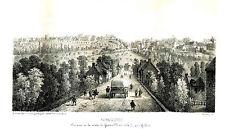 gravure lithographie XIX° Avranches Manche Pont Gilbert par Pigault