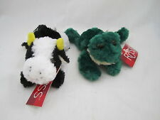 Lot 2 Russ Berrie Softies - Cow & Frog NEW