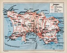 Jersey St-Hélier Guernesey 1925 pt. plans, cartes + guide (8 p.) Sercq Aurigny