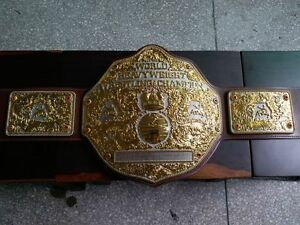 Fandu Big Gold Nickel/gold Wrestling Championship Title Belt Brown Strap