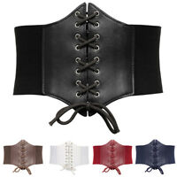 19cm Stretchy Elastic Wide Corset Belt Waist Cincher Waistband Plus Size Lace-up