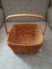 "1980 LONGABERGER LARGE BERRY BASKET ♡  8.75"" x 8.5"" x 5.25"" WITH SWING HANDLE"