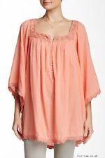 CALYPSO ST. BARTH Entina Coral Top Crochet Tunic Cover Up * S Small NEW!