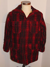 VINTAGE PLAID WOOLRICH WOOL HUNTING JACKET/COAT! GAME POCKET! MADE IN USA! 40