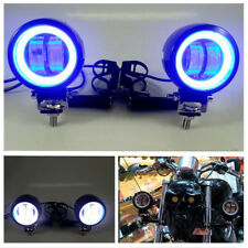 Motorcycle CREE LED Angle eyes LED Driving Spot Fog Lights Bar W/ Bracket