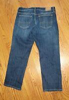 "Women""LUCKY BRAND JEANS""Easy Rider Crop Stretch Blue Denim Crop Jeans size 6/28"