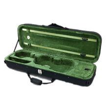 SKY 3/4 Premium Oblong Lightweight Violin Case with Hygrometer Black/Green