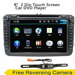 Radio Stereo Multimedia Car DVD Player 8 inch 2 Din GPS Navigation For VW Camera