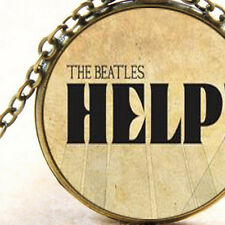 New The Beatles Inspired Help, Rock Band Pendant Necklace, Music Song Gift Idea