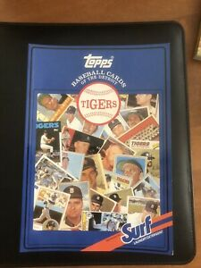 1987 & 1988 Topps Surf Books Baseball Cards Detroit Tigers