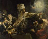 "REMBRANDT Art Poster or Canvas Print ""Belshazzar's Feast"""