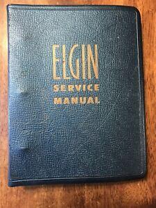 Vintage Elgin Service Manual  1961