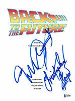MICHAEL J FOX CHRISTOPHER LLOYD SIGNED BACK TO THE FUTURE SCRIPT BECKETT BAS  2