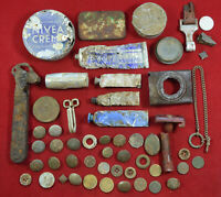 GERMAN WWII WEHRMACHT SOLDIERS WAR RELIC EASTERN FRONT LOT BATTLEFIELD RELIC