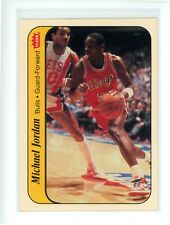 1986 Fleer Sticker MICHAEL JORDAN #8 Rookie RC EX-MT Chicago Bulls HOF *READ*