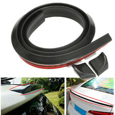 4.9FT/1.5M DIY Universal Black Car Rear Roof Trunk Spoiler Wing Lip Trim Sticker