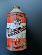 Vintage Menominee Champion Beer Brand Cone Top Beer Can 12oz