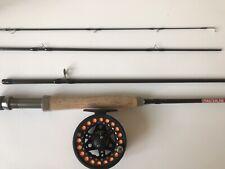 FLY FISHING KIT MASTERLINE ROD 9FT + REEL READY LOADED FLY FISHING  5/6 X 1