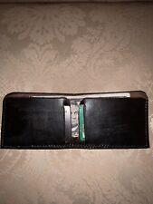Full Grain Leather, Handmade Minimalist Wallet, Dark Brown